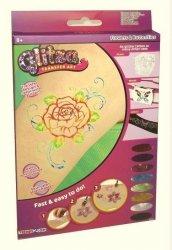 Glitza Kwiaty + motyle duży zestaw tatuaży Formatex 7500