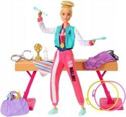 Barbie Gimnastyczka Zestaw z lalką Mattel GJM72
