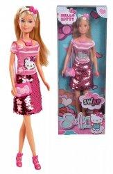 Lalka Steffi Hello Kitty w cekinowej spódniczce Simba 9283010