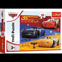 Puzzle Auta Przed Wyścigiem 30 el. Auta 3 Cars 3 Trefl 18274