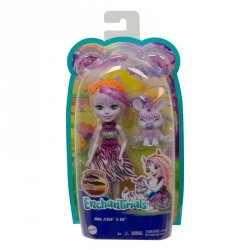 Lalka ze Zwierzątkiem Enchantimals Zadie Zebra i Ref Mattel GTM27