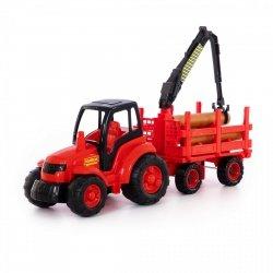 Mistrz traktor z przyczepą do dłużyc Polesie 8229