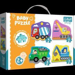 Puzzle Baby Moje Pierwsze Puzzle Pojazdy na Budowie 3/4/5/6 el. Trefl 36072