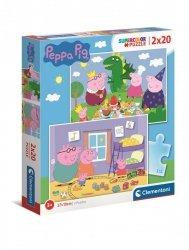 Puzzle 2w1 Świnka Peppa Peppa Pig 2x20 el. Clementoni 24778