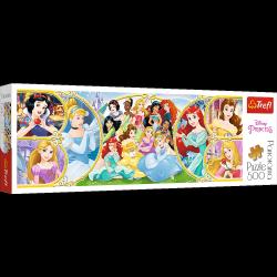 Puzzle Panoramiczne Powrót do Świata Księżniczek 500 el. Trefl 29514