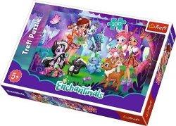 Puzzle Enchantimals Zabawa z Przyjaciółmi 100 el. Trefl 16348
