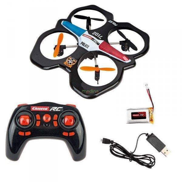 Dron RC Quadrocopter Police 2.4GHz Gyro System Carrera 503014
