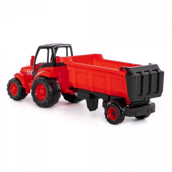 Duży Traktor z Naczepą