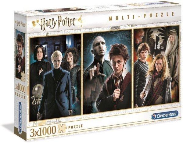 Puzzle Harry Potter 3x1000 el. Clementoni 61884