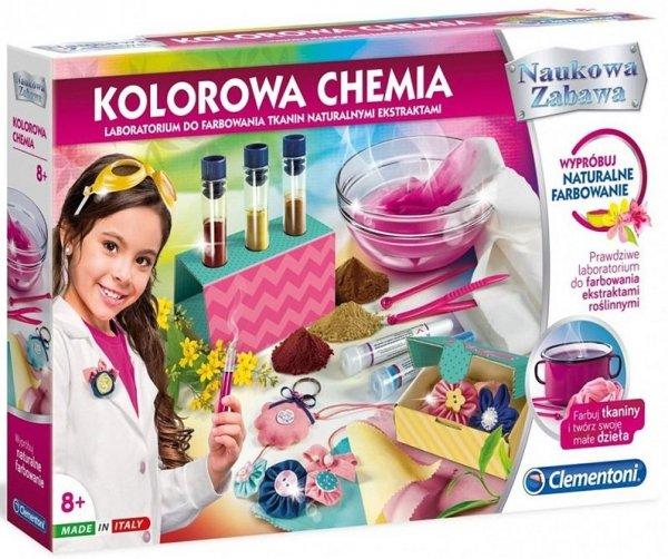 zestaw doświadczalny kolorowa chemia 8005125505180 farbowanie tkanin