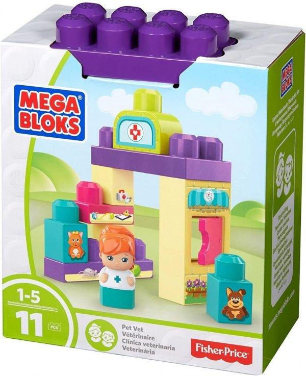 Mega Block klocki 11 elementów weterynarz