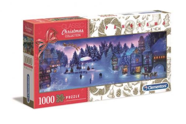 Puzzle Panoramiczne Świąteczny Sen 1000 el. Clementoni 39582