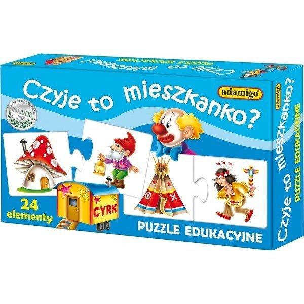 Gra edukacyjna Czyje to mieszkanko Adamigo 00665