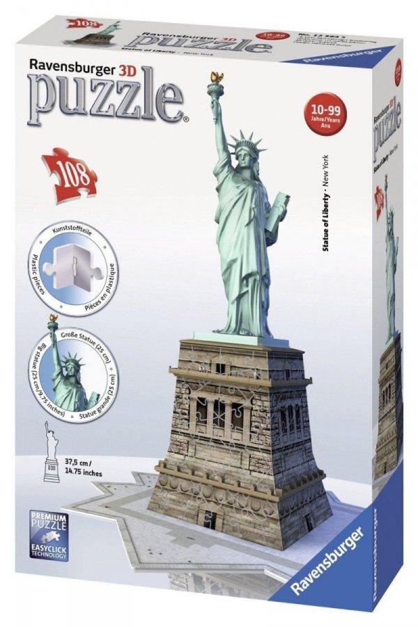 Puzzle 3D Statua Wolności 108 el. Ravensburger