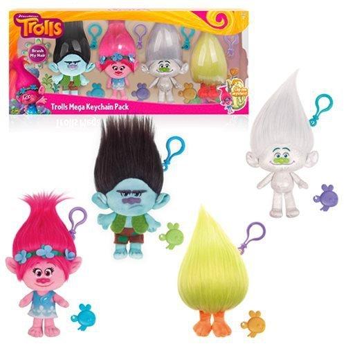 Trolls Mega zestaw 4 pluszowych breloków 22 cm TM Toys 6203