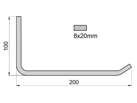 Wieszak na opony K1/8x250 R