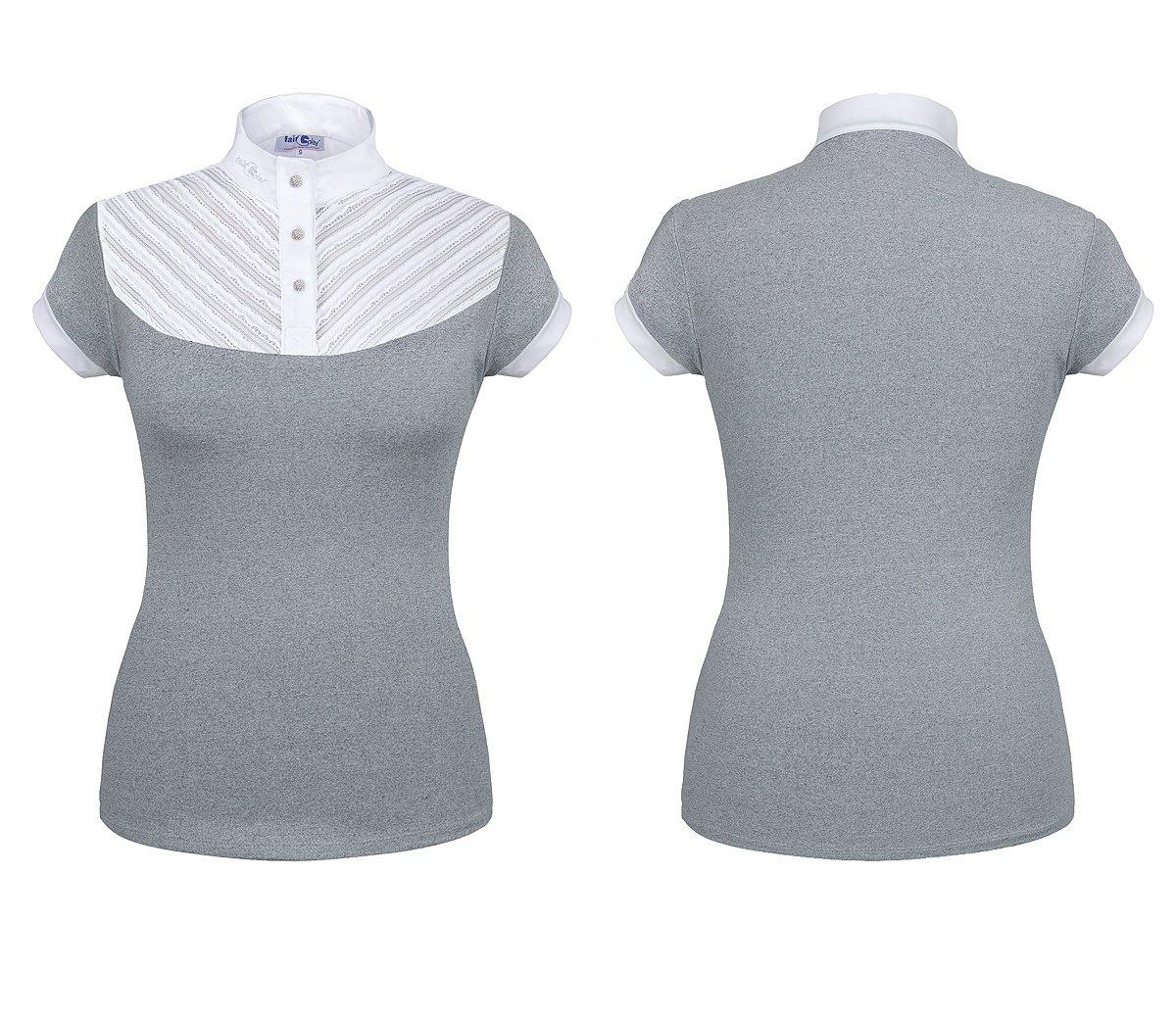 6c8819161972e3 Koszula konkursowa HELEN - FAIR PLAY - szary/biały