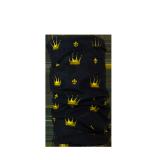 Komin wielofunkcyjny czarny w korony - COMODO