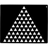 Szablon do wzorów na sierści - małe trójkąty w trójkącie - EKKIA