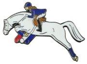 Znaczek ozdobny 14 - koń skaczący przez przeszkodę