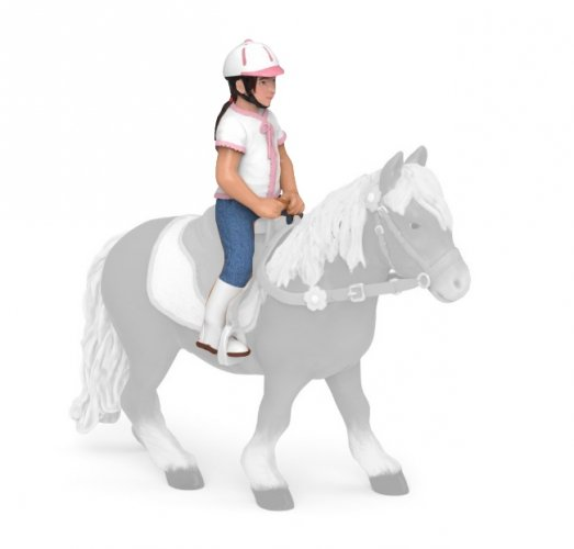 Figurka dziewczynka na koniu RIDING CHILD - PAPO