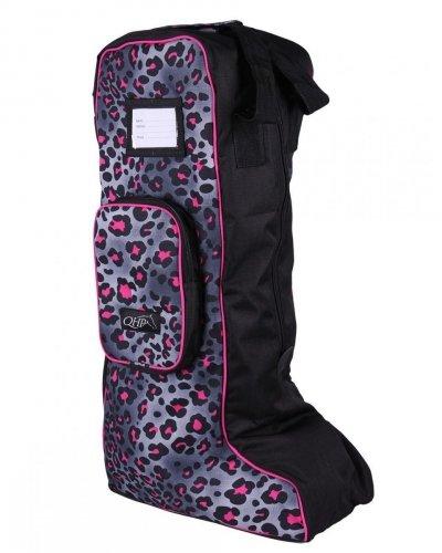 Torba na oficerki kolekcja wiosna-lato 2019 - QHP - pink leopard