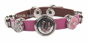 Różowa bransoletka HKM