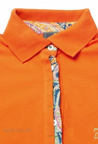 Damska koszulka polo CLASSIC NEW - FIOR DA LISO - orange
