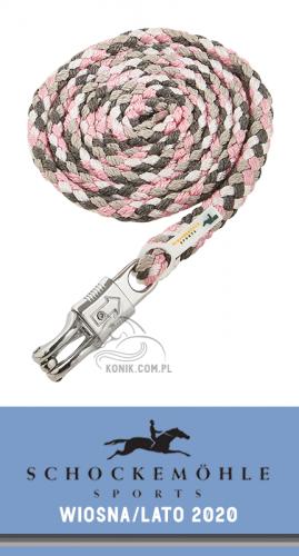 Uwiąz z karabińczykiem bezpiecznym SS20 - Schockemohle - asphalt/rose