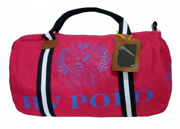 Torba sportowa Gias Canvas pink-cobalt - HV POLO
