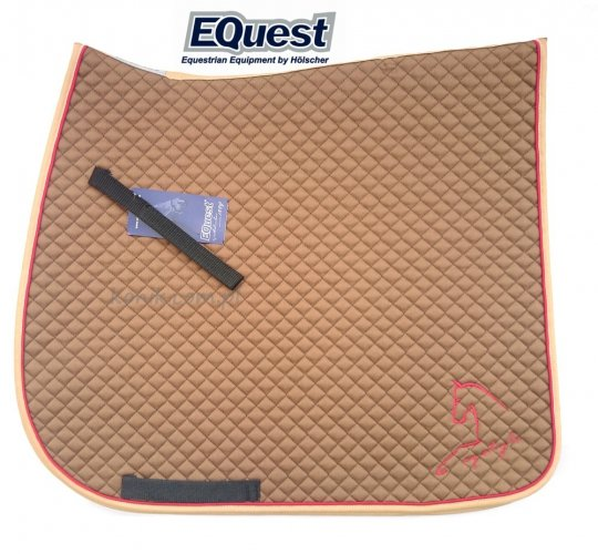 Potnik EQUEST Cotton Classic Plus EQ STYLE- cynamonowy