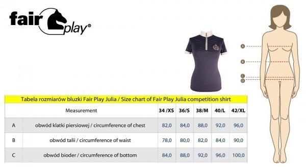 Koszula konkursowa JULIA granatowa - FAIR PLAY
