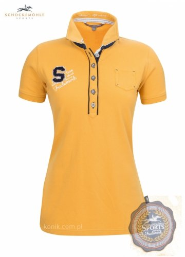 Koszulka damska polo MELISA Schockemohle z kolekcji wiosna-lato 2014 - honey