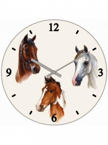 Zegar ścienny okrągły ze szklanym cyferblatem - GRAY'S