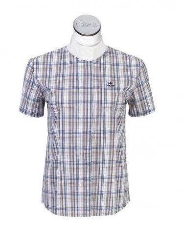Koszula konkursowa PIKEUR kratka marine/schoco/weiss
