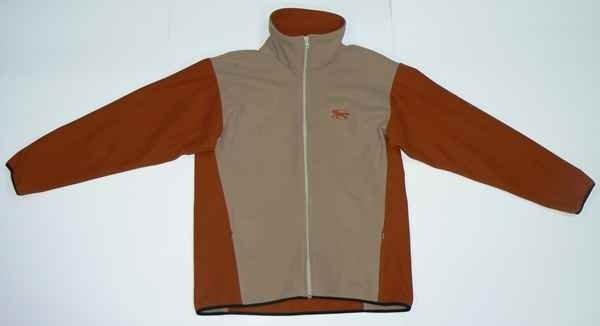 Bluza polarowa WINDSTOPER beżowo-ceglasty - Męski