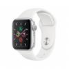 Apple Watch Series 5 GPS Koperta 40 mm z aluminium w kolorze srebrnym z paskiem sportowym w kolorze białym - outlet