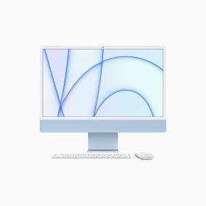 Apple iMac 24 4,5K Retina M1 8-core CPU + 8-core GPU / 8GB / 256GB SSD / Gigabit Ethernet / Niebieski (Blue) - 2021