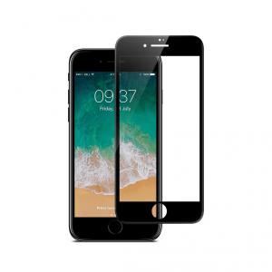 JCPAL Szkło ochronne do iPhone SE (2020) / iPhone 8 / iPhone 7 - Black (czarna ramka)