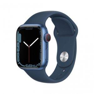 Apple Watch Series 7 41mm GPS + Cellular (LTE) Koperta z aluminium w kolorze niebieskim z paskiem sportowym w kolorze błękitnej toni