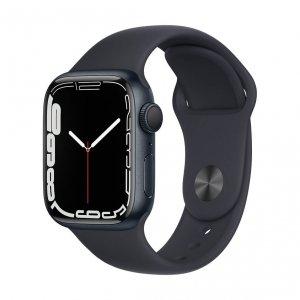 Apple Watch Series 7 41mm GPS Koperta z aluminium w kolorze północy z paskiem sportowym w kolorze północy