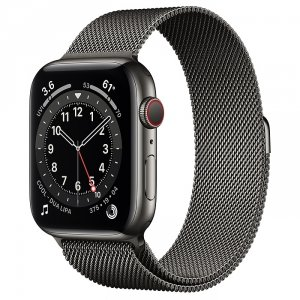 Apple Watch Series 6 44mm GPS + LTE (cellular) Stal nierdzewna w kolorze grafitowym z bransoletą mediolańską w kolorze grafitu