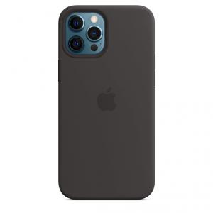 Apple Silikonowe etui z MagSafe do iPhone'a 12 Pro Max - czarne