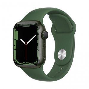 Apple Watch Series 7 41mm GPS Koperta z aluminium w kolorze zielonym z paskiem sportowym w kolorze koniczyny