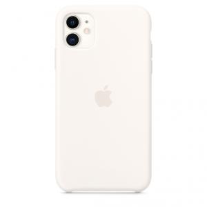 Apple Silikonowe etui do iPhone'a 11 – łagodna biel