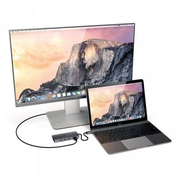 Satechi MultiPort Ethernet V2 HUB USB-C / Ethernet / 3xUSB 3.0 / HDMI / USB-C(PD) / SD / microSD Space Gray