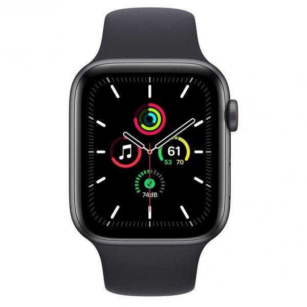 Apple Watch SE 44mm GPS + Cellular Aluminium w kolorze gwiezdnej szarości z paskiem sportowym w kolorze północy