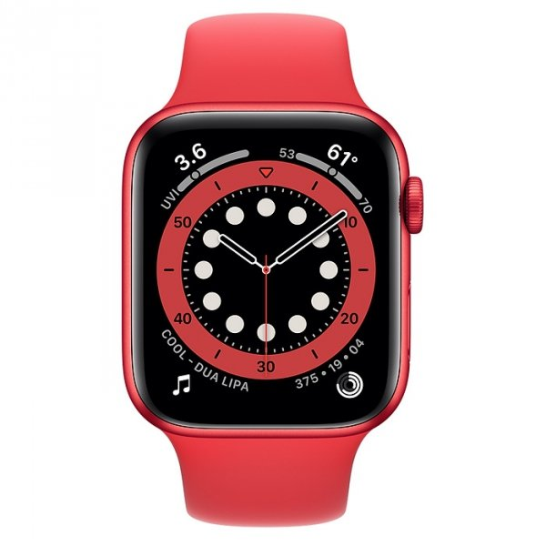 Apple Watch Series 6 44mm GPS Aluminium z edycji PRODUCT(RED) z paskiem sportowym z edycji PRODUCT(RED)
