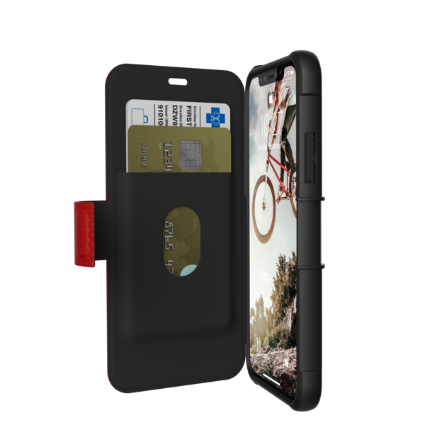 UAG Metropolis - obudowa ochronna z klapką do iPhone X (czerwona)
