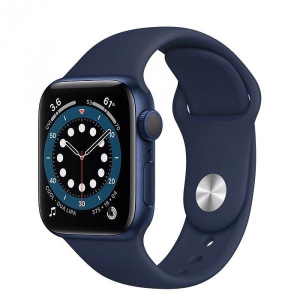 Apple Watch Series 6 40mm GPS Aluminium w kolorze niebieskim z paskiem sportowym w kolorze głębokiego granatu